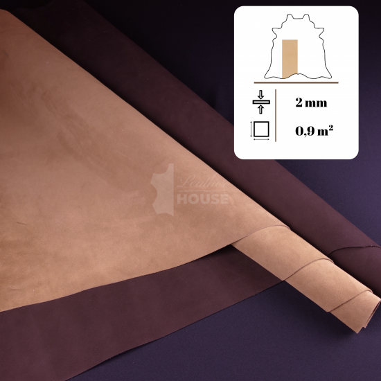 Prémiový full grain velúr – single bend 2mm